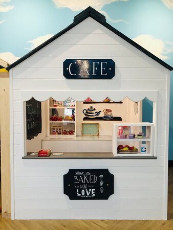 Little ones can enjoy hours of creative and imaginative play in the cafe. Part of the new Mini Role Play Village in the Sky Terrace Cafe Bar at Head Over Heels Chorlton