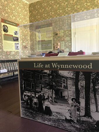 Exhibit at Wynnewood State Historic Site