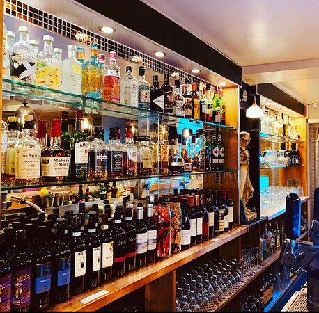 Fully stocked Osteria Bar