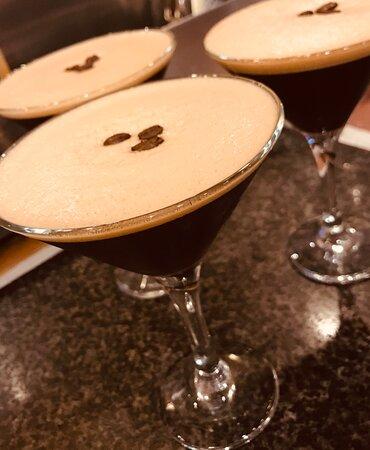 Espresso martinis in the Osteria