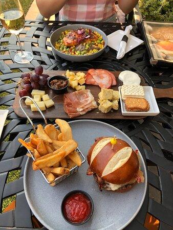 Outdoor patio dinner