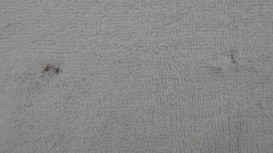 Mantua, Le Residenze di Mantova, holes in the towels