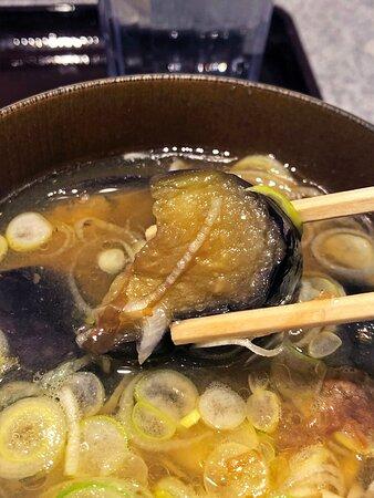 おすすめの贅沢鯛だし(本日のおすすめ/ごろっと揚げ茄子)