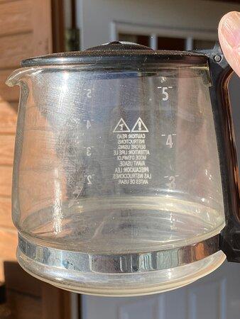 Filthy coffee pot