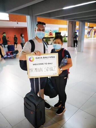 Bali Ngurah Rai Airport: We were pleased to welcome Mr. Melvin to Bali. It is a pleasure to arrange your visa with your trust! ❤️ If you have questions about Business Visa, Business Setup, or Social Visa Onshore, you can visit our website and contact us. We would be glad to help you.