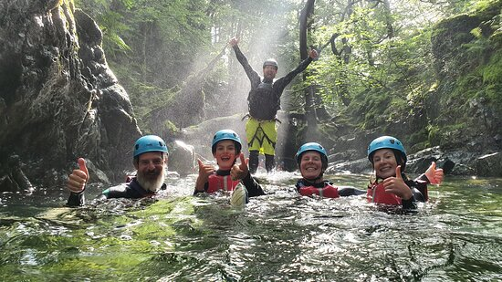 Gorge Walking in Coniston, Lake District
