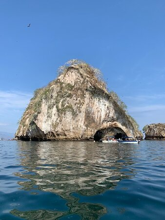 Los Arcos from the boat