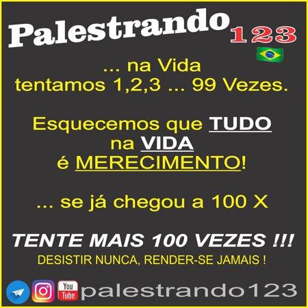 ZAP (51) 98114-8049     #palestrando123 E-mail.: palestrando123@gmail.com Linkedin.: https://www.linkedin.com/in/palestrando123 Telegram.: https://t.me/palestrando123 Facebook.: https://www.facebook.com/palestrando.motivacional  #palestrando123 #mentor #coach #comédia #comediante #consultor #motivação #motivacional #vendas #cursodevendas #tecnicadevenda #palestra #palestrante #salvador #bahia #novohamburgo #choronabrasa #empreendedorquefaz #excel #cursodeexcel