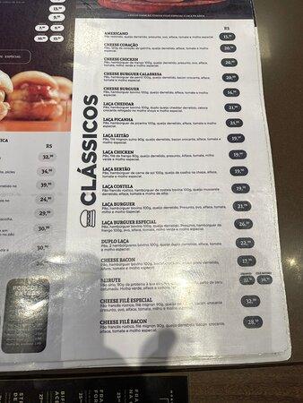 Burger, menu, ambience