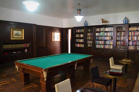 Rio das Flores, RJ: Bilhar e salão de jogos do Hotel do Café