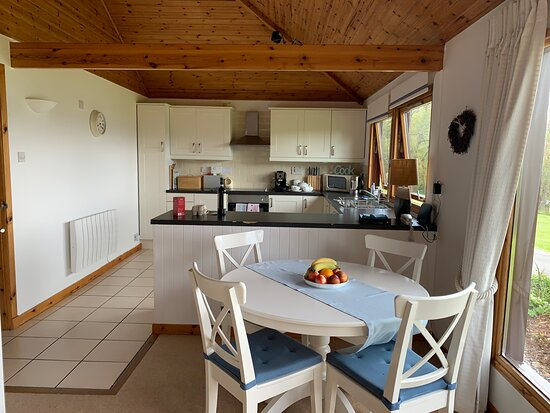 Knoydart Cottage, Duisdale, Isleornsay, Sleat Peninsula, Isle of Skye, IV43 8QX  Fabulous house - everything you need.  Housekeeper lives very close and is very helpful. Views are tremendous. Beach is 5min walk (large pebbles).  It is down a 'private road' but access is allowed on foot.  The only reason this doesn't get a 5/5 is because of the road in front.  However, this is a much quieter road than many on Skye.  The garden large and is well enclosed and safe for children.  Varied Dawn Chorus!