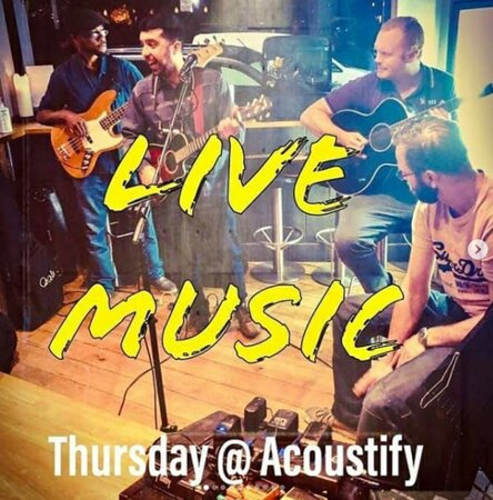 Our Open Mic nights, every Thursday night 18:30 - 22:00.