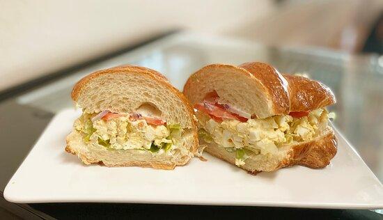 Egg Salad Sandwich on Croissant