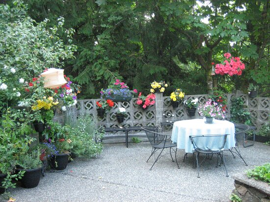 Relax or eat on the patio