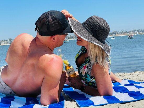 Mission Beach, Catamaran logo plush towels! :)