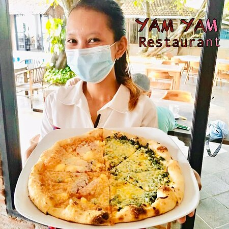 Wake up. It's Weekend Only piZza at YAM YAM Restaurant Jepara is Open Everyday!!!!!! Full service Nonstop. Special info during Covid period the Open hours will be from 8:00-21:00 ( last order 20:15, last order for take away until 20:45)  See you... Kiss (from faraway) All staff YAM YAM 😘