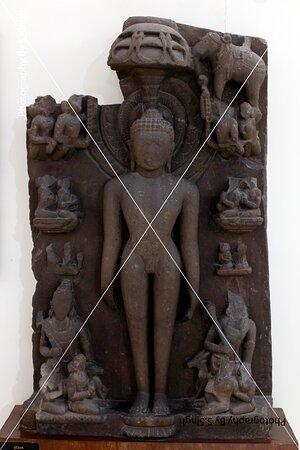 """SHANTNATH"" ruined Fine carved artefact's /sculpture 11th Century. Rani Durgawati Museum , Jabalpur, M.P. india"