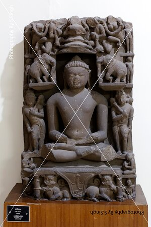 """AADINATH""ruined Fine carved artefact's /sculpture 11th Century. Rani Durgawati Museum , Jabalpur, M.P. india"