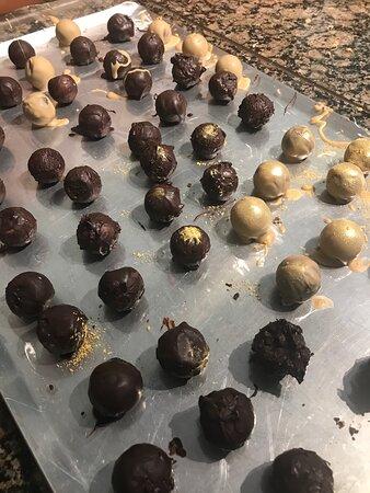 Chocolate truffle class