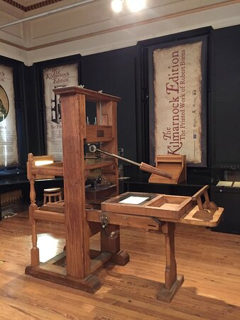 Printing press from Robbie Burns's time
