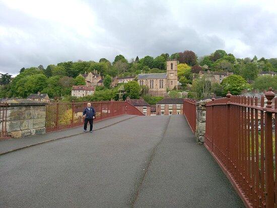 Me crossing the bridge