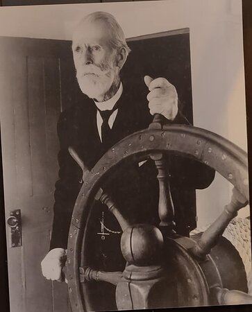 9:00 am Timed-Entry Visit to New Bedford Whaling Museum: Captain James H. Sherman in 1934 age 88 made 11 whaling voyages all around the world and commanded 4 whaling voyages.