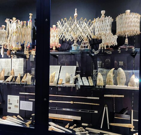 9:00 am Timed-Entry Visit to New Bedford Whaling Museum: Whalebone products and scrimshaw.