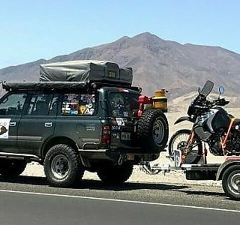 Atacama Region, Chile: One of our support vehicles for international tours.