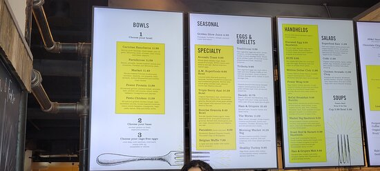Extensive menu, served all day.