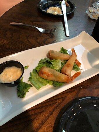 Unique appetizer - wonton shrimp.  Highly recommend.