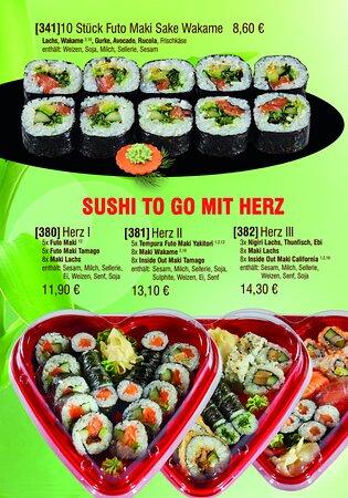Futo Maki und Sushi-Herzen