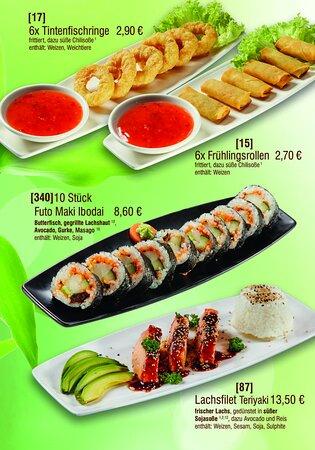 Futo Maki, Vorspeisen und Sushi-Muffel