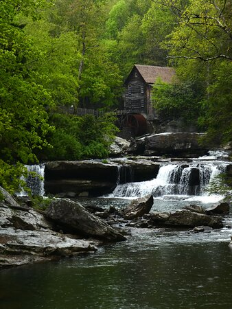 Grist mill and falls at Babcock State Park.  May 2021
