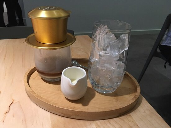 Vietnamese iced coffee service