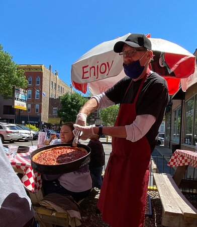 Incredible pizza! The story behind the pizza makes it all the more special.