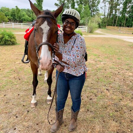 Peachtree is amazing! My husband and I celebrated our wedding anniversary here by going on an amazing trail ride where we got to see deer and rabbits! Gloria and Pam were our guides. I loved how clean and safe everything was. This was my first time riding and they made me feel comfortable. They even allowed us to practice riding in an designated area and adjust before taking us out on the trail. I am grinning ear to ear because this was the best experience ever!
