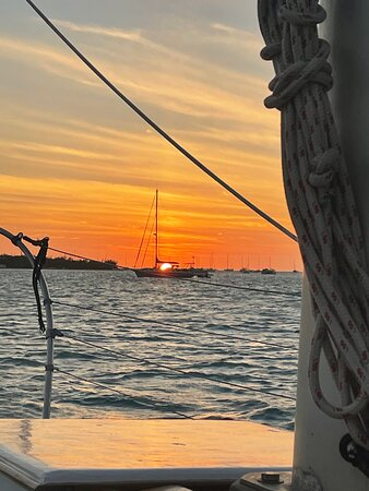 Private Key West Sunset Sail: Suset view from our sail.