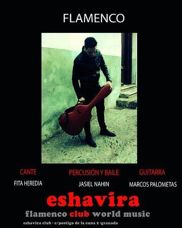 Granada, Spain: Espectáculo flamemco presentado por grandes del arte, MARCOS PALOMETAS, guitarra, FITA  en cante y JASIEL NAHIN, baile