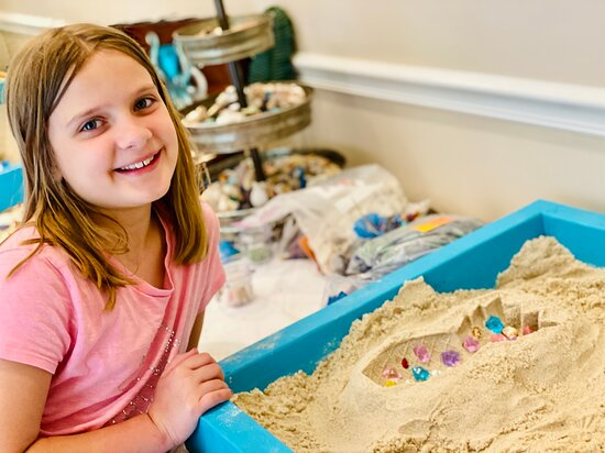 Sand art fun!