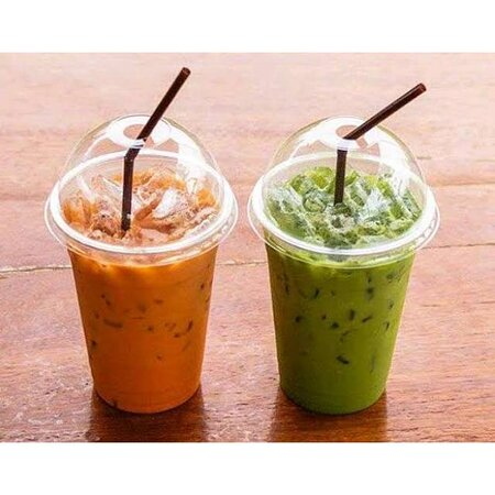 green and red thai ice tea