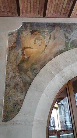 détail peinture de la terrasse