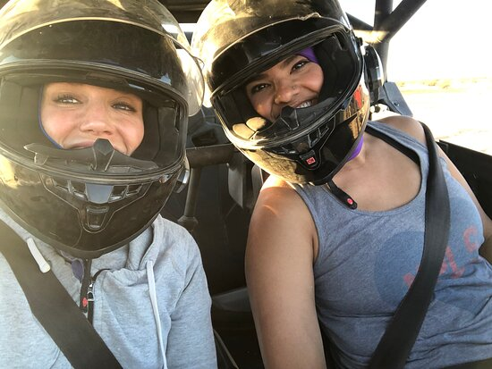Helendale, CA: Safety first! The helmets fit great and were nice and clean.