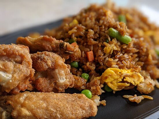Fried chicken wing with fried rice - fills you up