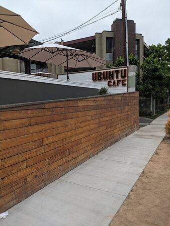 The side wall of Ubuntu Cafe.