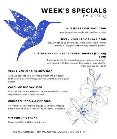 Our Week's Specials (May 1st - May 6th)
