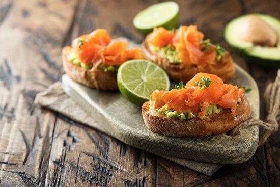 Smashed avocado and Great Taste Award-winning Macneils Smokehouse smoked salmon