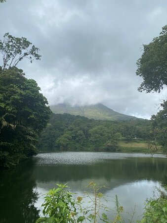 Combo La Fortuna Waterfall and Volcano Hike & Hotsprings: View of the volcano