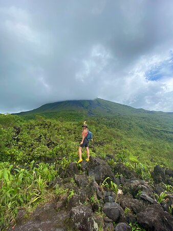 Combo La Fortuna Waterfall and Volcano Hike & Hotsprings: The hike was worth the view!