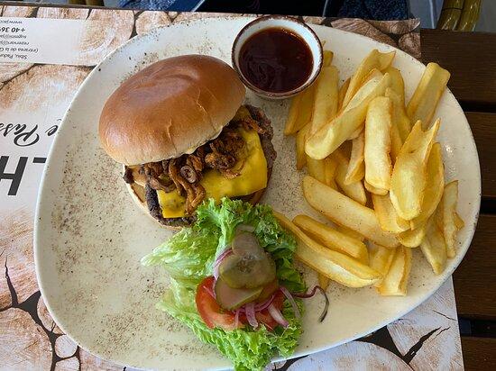Burger and fries ... a good option.