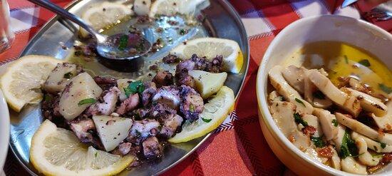 Monastir, Italy: la ottima insalata di polpo e le seppiette